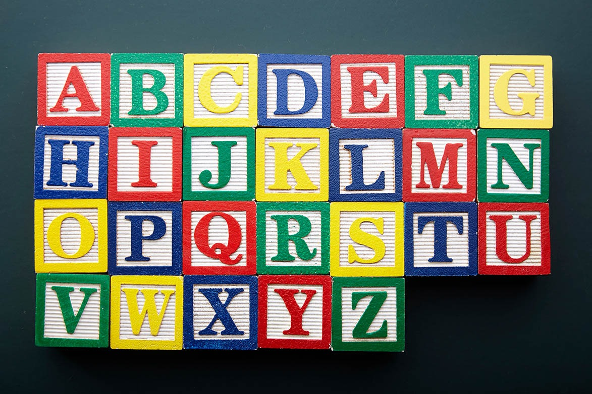 A to Z alphabet blocks