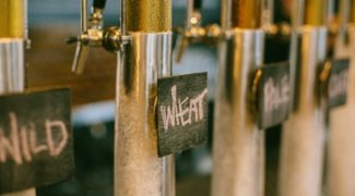 Beer tap featuring local Minneapolis beers