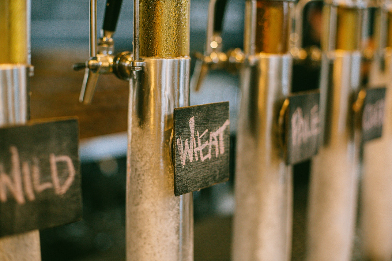Beer tap featuring local Minneapolis beers